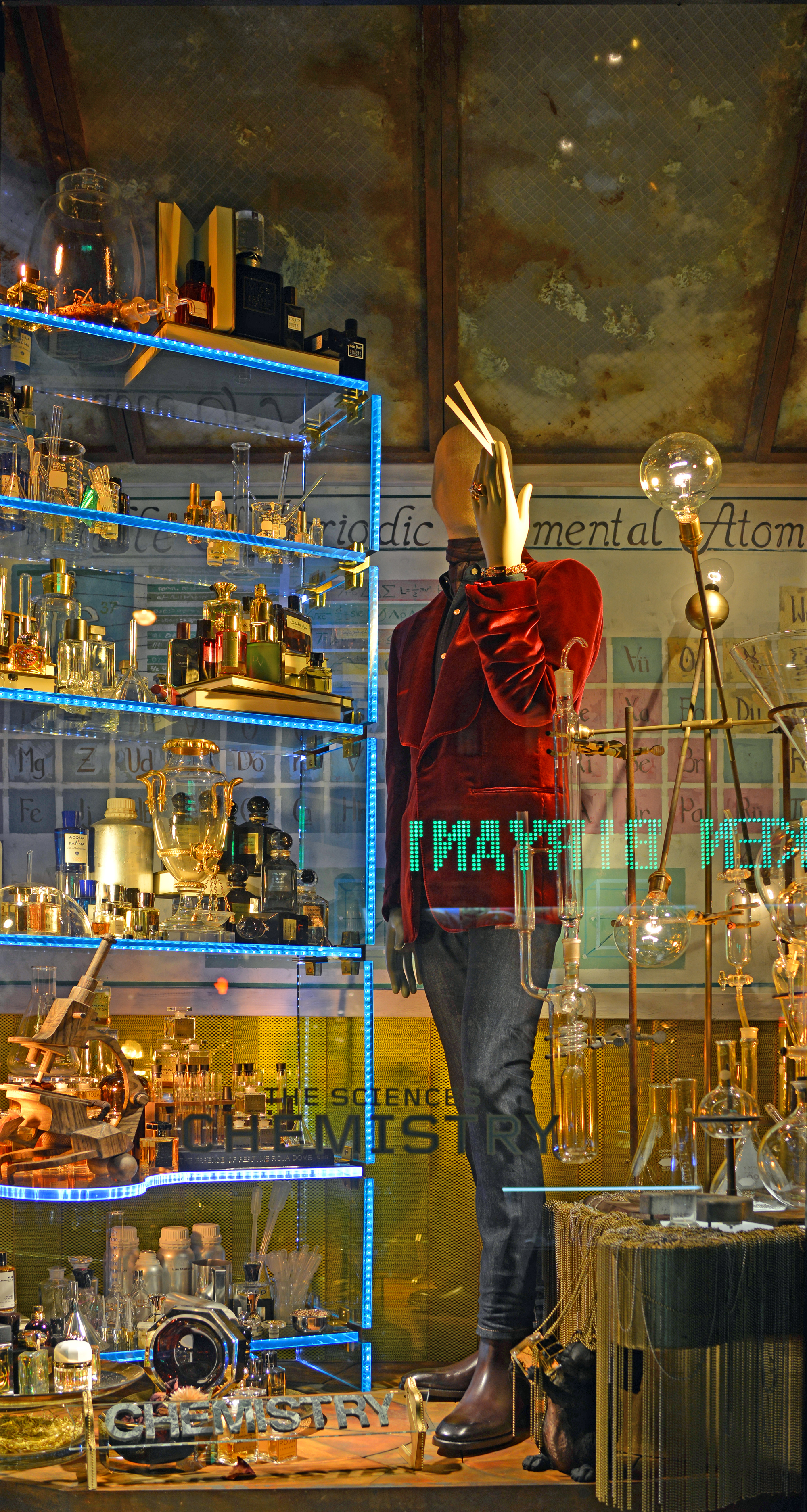 Chemistry Window - Bergdorf Goodman Men's | Lauren L Caron © 2014