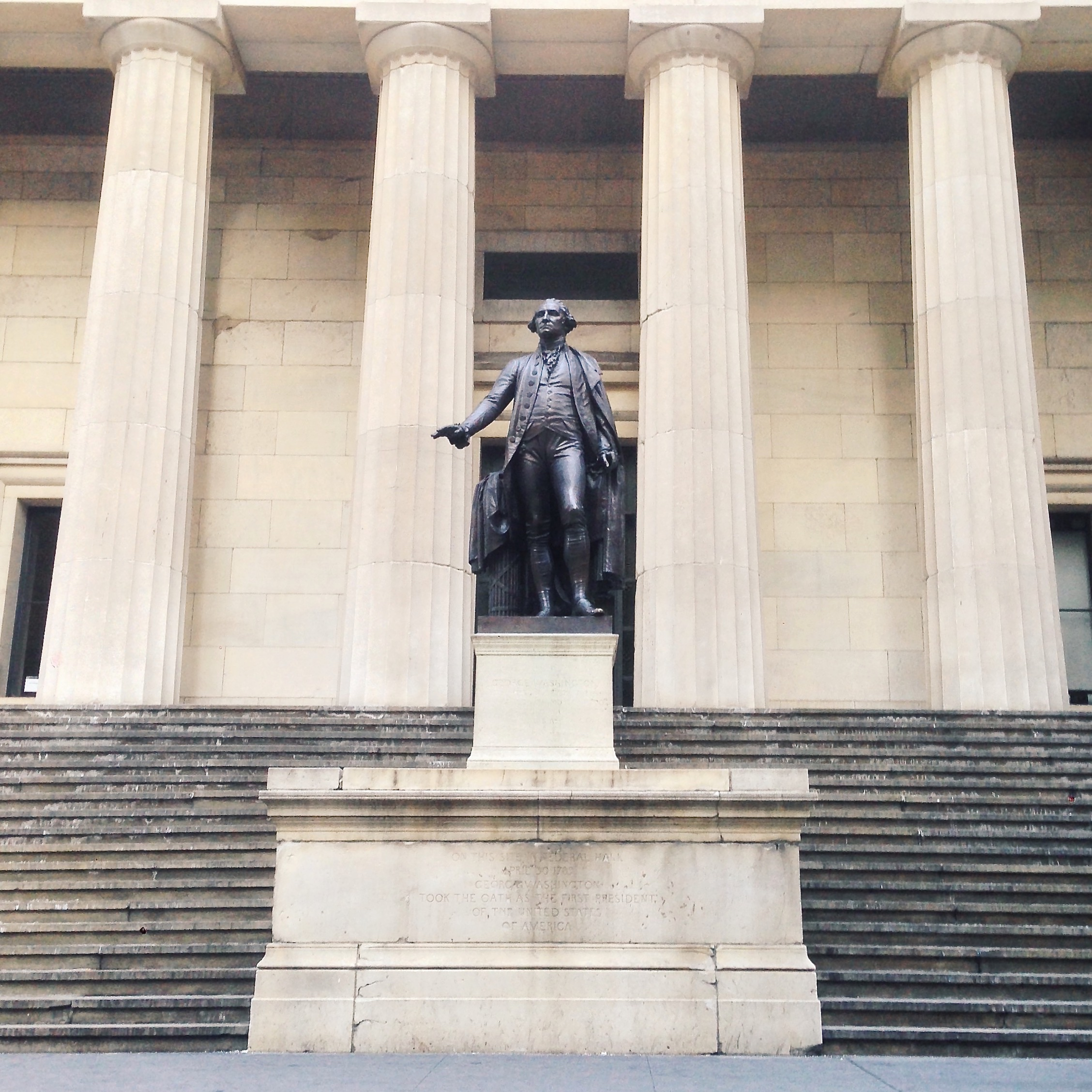Federal Hall | Site Where Washington Took the Oath as the Nation's First President | Lauren L Caron © 2015