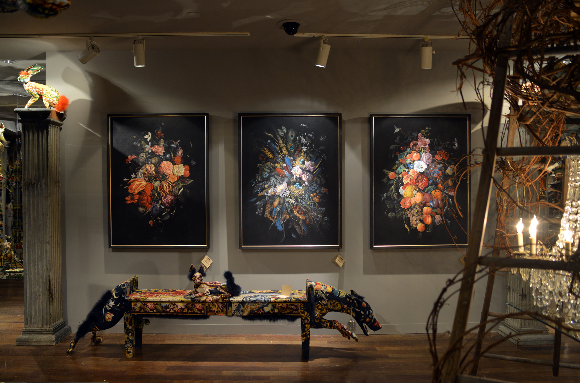 Bergdorf Goodman Loft | Paintings by Jake Messing | Sculptures by: Frédérique Morrel | Photography by: Lauren L Caron © 2015