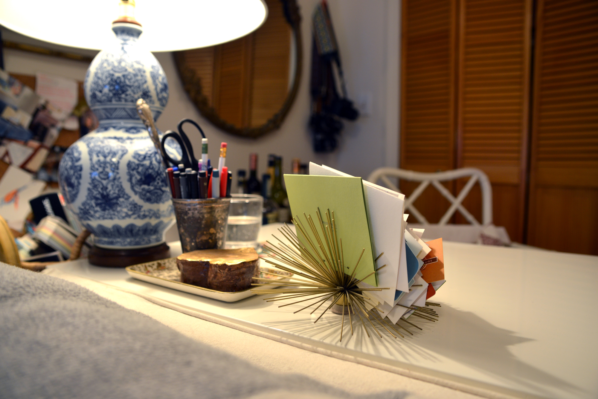 Sea Urchin or Wallflower Business Card Holder as Seen in Emily's Apartment   Photography By Lauren L Caron   Fourth Floor Walk Up © 2015