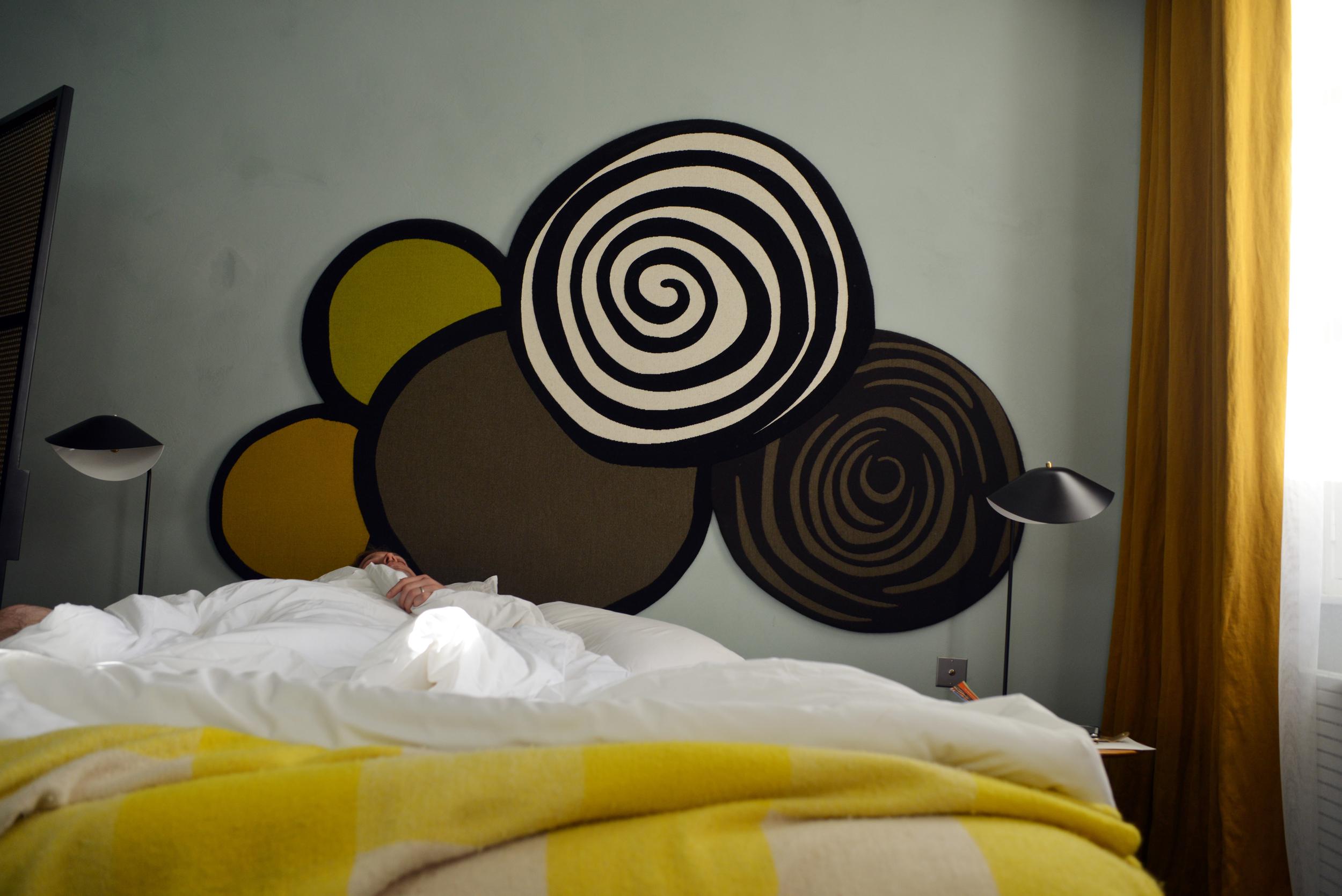 Jack sleeping in at the Hotel du Cloître | Photograph by Lauren L Caron © 2015