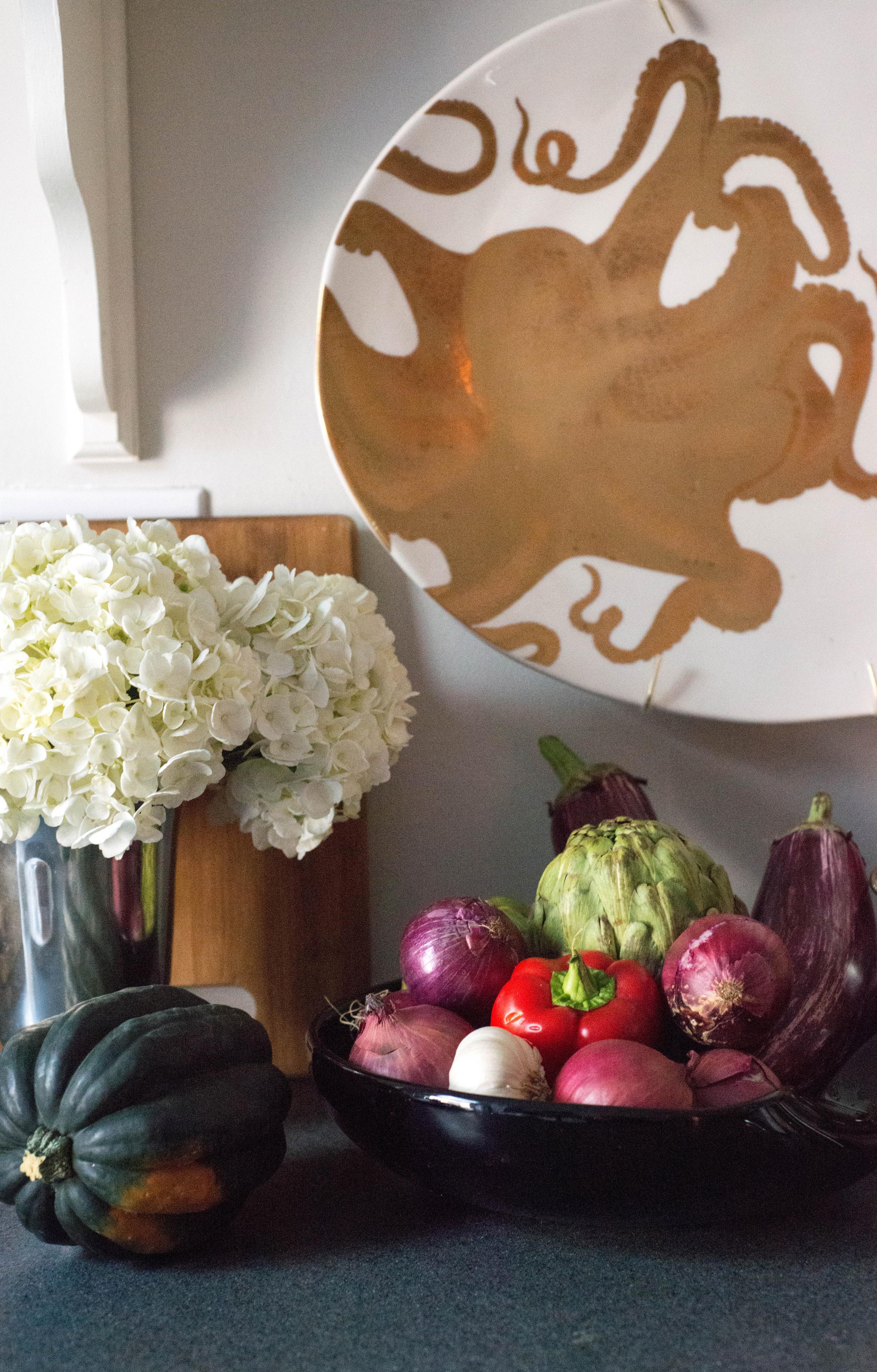 Brooklyn Galley Kitchen | Open Shelves |  By: Lauren Caron © Fourth Floor Walk Up 2015