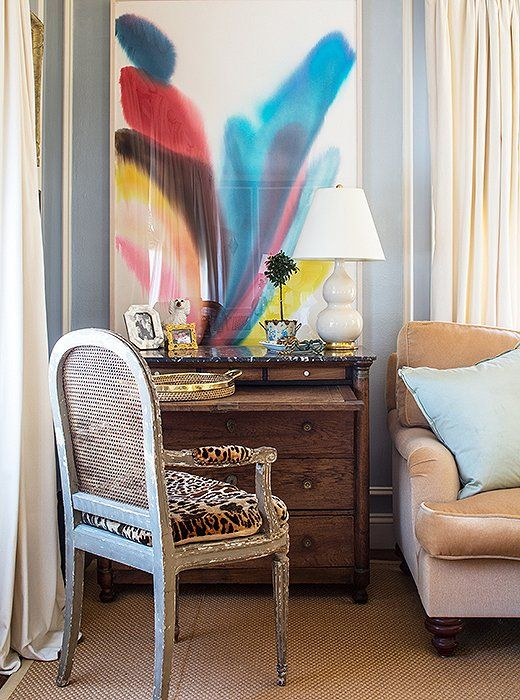 Living Room - Secretary Desk Inspiration | Interior Design - Kim Bachmann | One Kings Lane | Photos - Nicole LaMotte