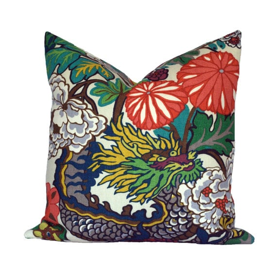Schumacher Chiang Mai Dragon Pillows