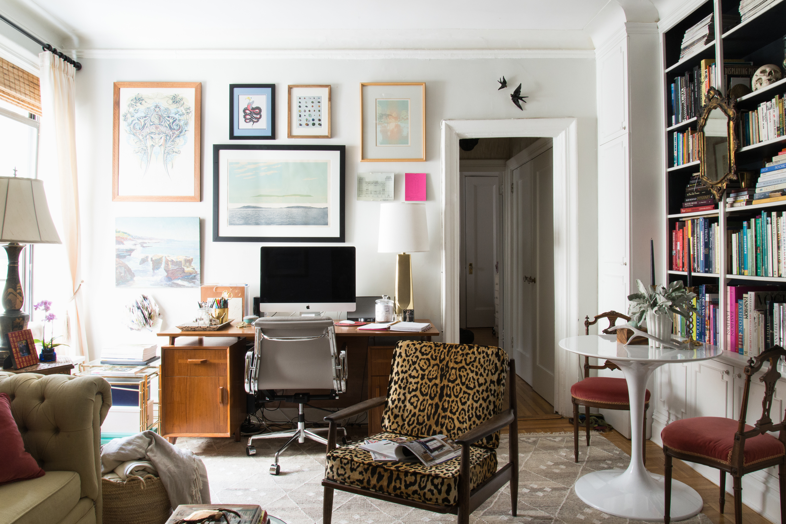 Jack built the desk and built-ins for our Brooklyn apartment | Photograph by Claire Esparros of Homepolish.com