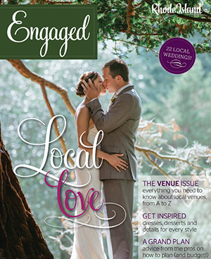 """Engaged Magazine, January 2017  """"It Takes Two""""  Featuring the Jessa sash (pg. 65)"""
