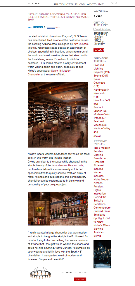 Reitz Builders has designed and built 2 downtown Flagstaff Bar/Restaurants:     Flg Terroir & Historic barrel house