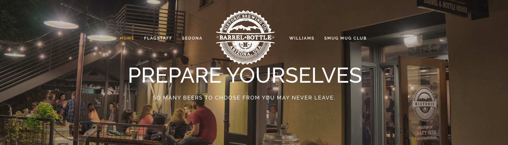 A full service project: Historic Brewing Co.'s downtown location, Barrel + Bottle,  in early 2015
