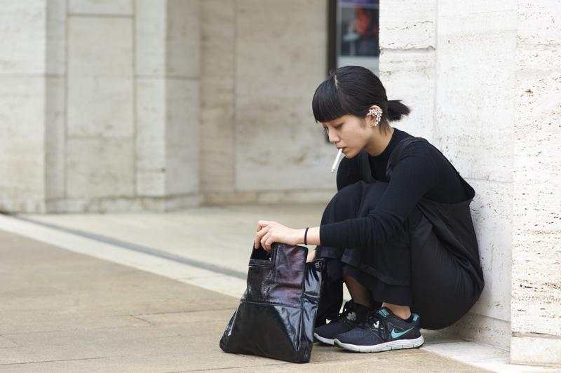 Kyoko+Koyama+BCBGMAXAZRIA+NYFW+Toga+T+by+Alexander+Wang+Nike+An+Unknown+Quantity+New+York+Fashion+Street+Style+Blog.jpg