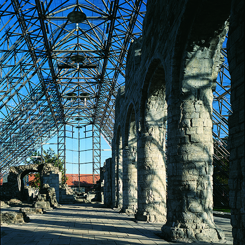 VERNEBYGG FOR HAMAR DOMKIRKERUIN   + VINNERUTKAST 1987