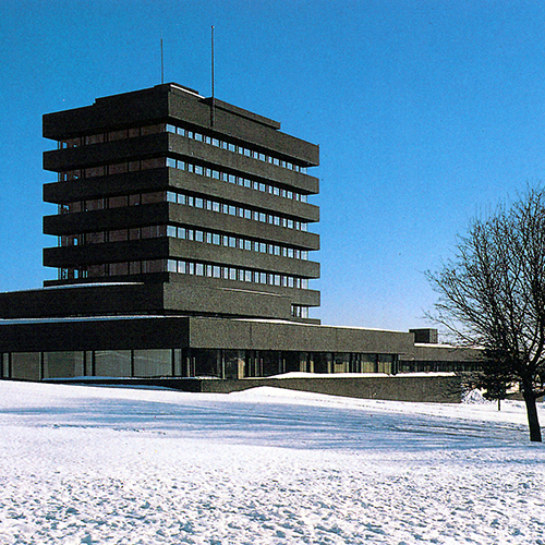 ASKER RÅDHUS, ASKER   + BETONGTAVLEN 1964