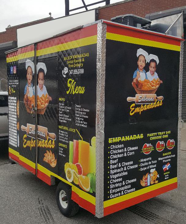Full Wrap food truck cart