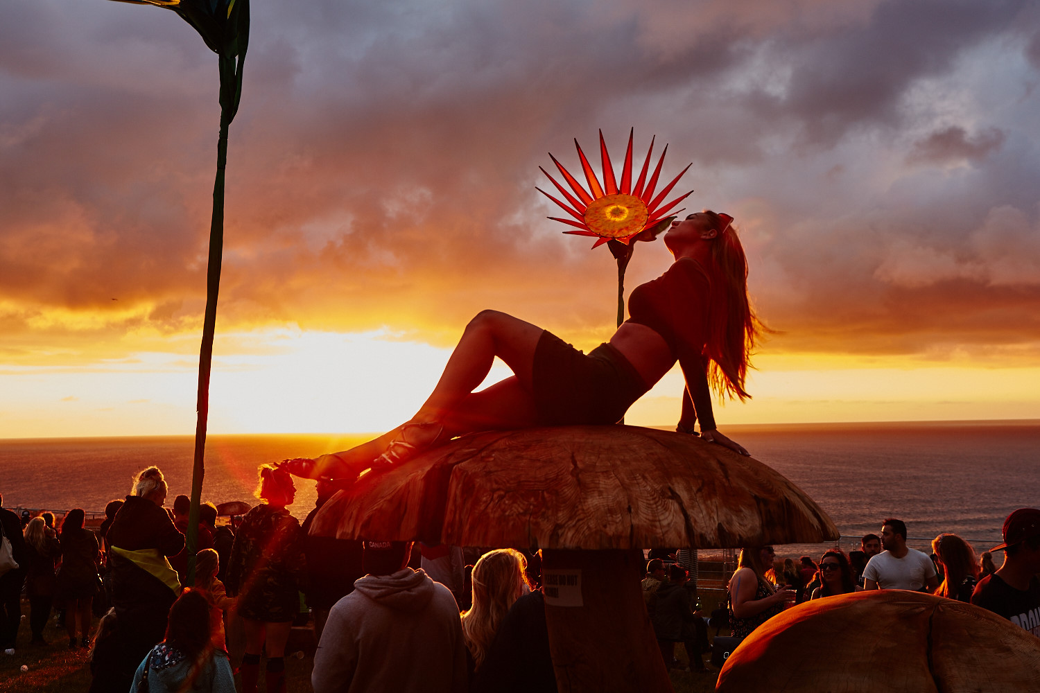Sunset on day one of Boardmasters. Click  HERE  to see the full gallery.