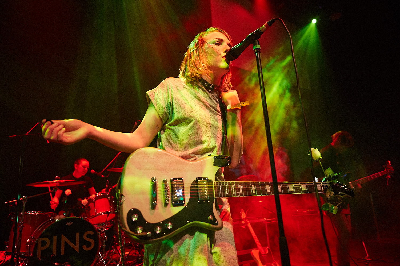 Pins play Trent University in Nottingham as part of Dot to Dot Festival 2015.