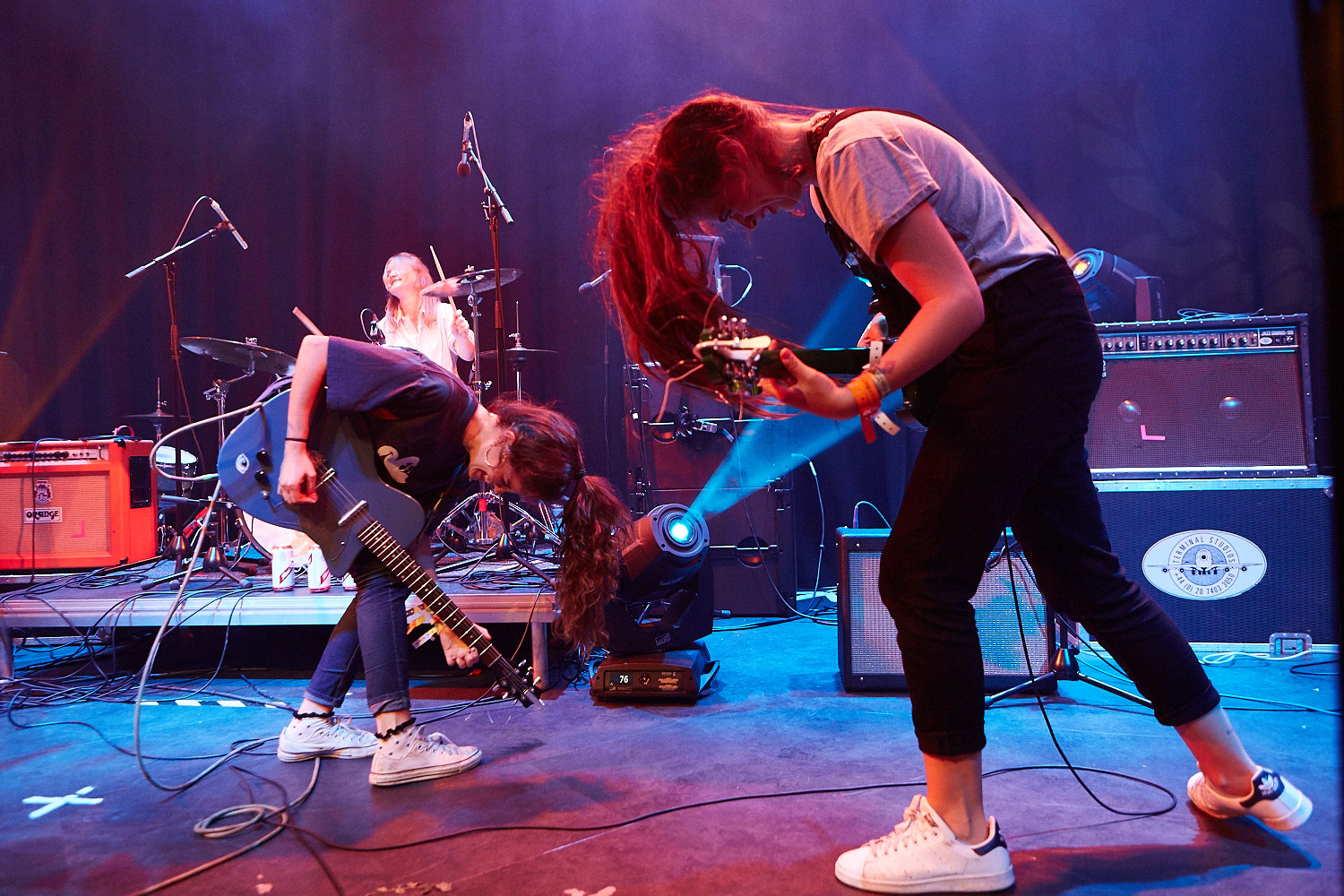 Hinds play Trent University in Nottingham as part of Dot to Dot Festival 2015.