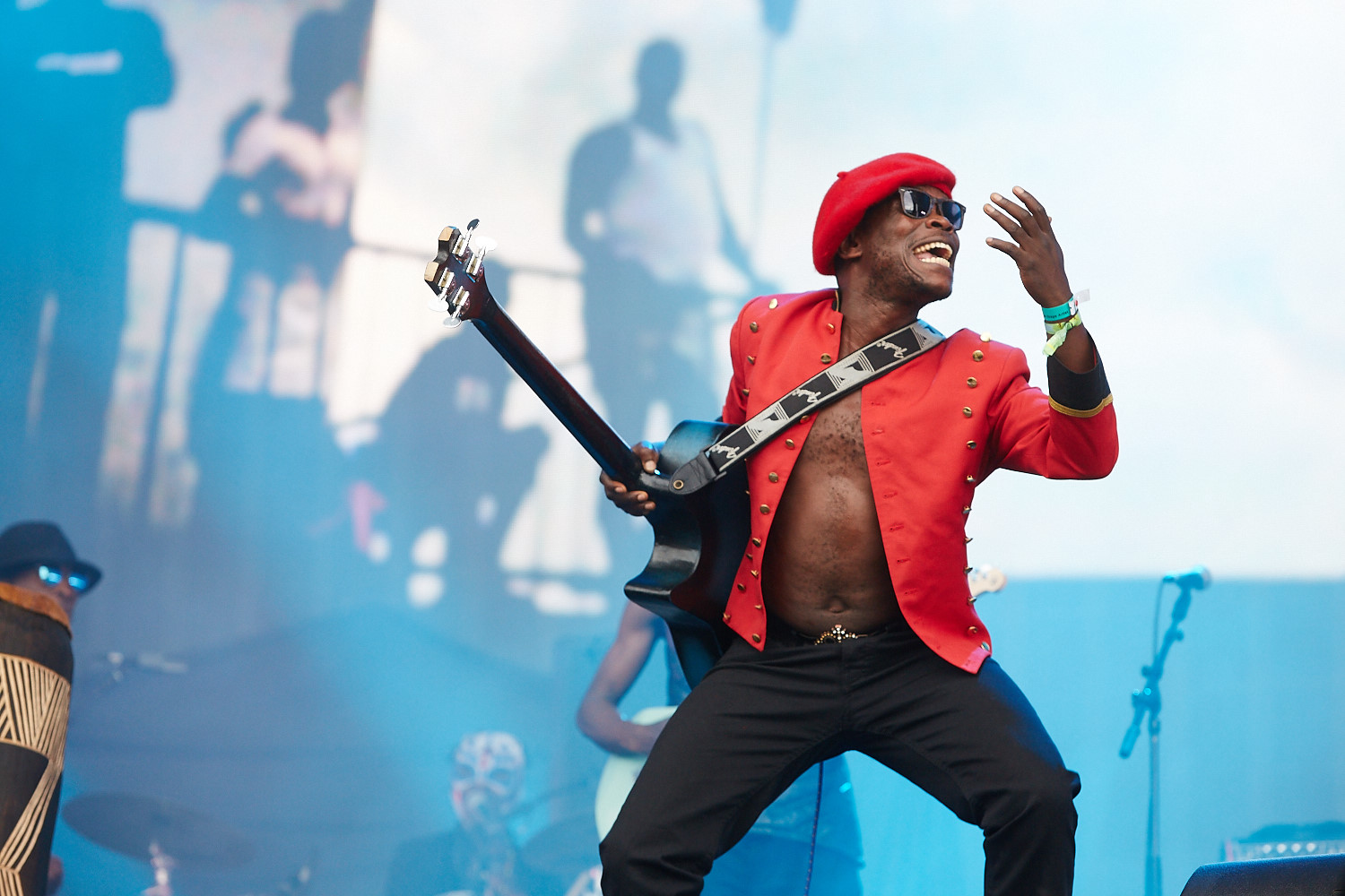 20th June 2015. Jupiter and Okwess International  plays Barclaycard British Summertime in London's Hyde Park.