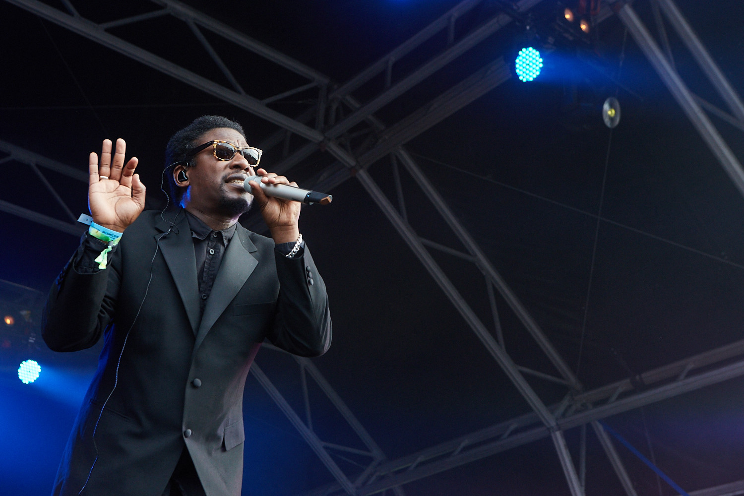 20th June 2015. Roots Manuva plays Barclaycard British Summertime in London's Hyde Park.