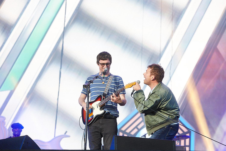 20th June 2015. Blur headline Barclaycard British Summertime in London's Hyde Park.
