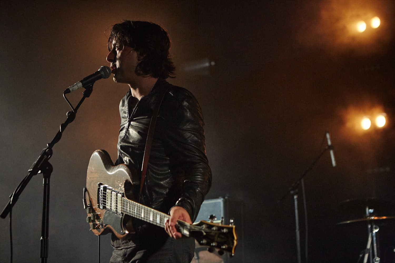 Carl Barat & The Jackals performing on the first day of Boardmasters music festival, Watergate Bay, Cornwall 2015