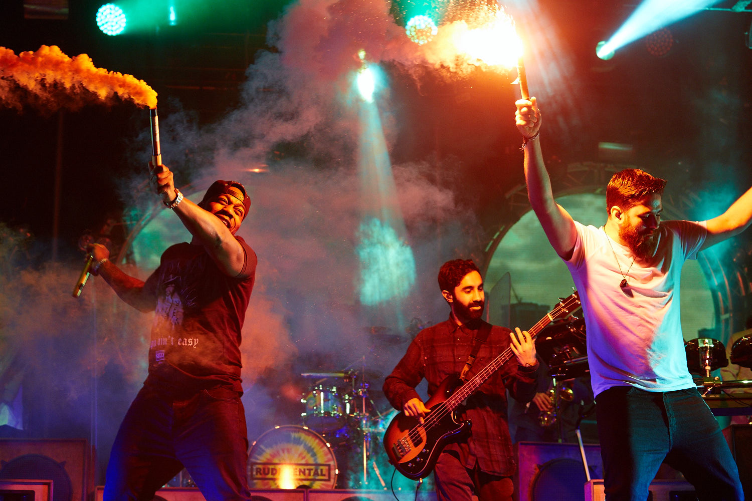 Rudimental headline the second day of Boardmasters music festival, Watergate Bay, Cornwall 2015 performing on the second day of Boardmasters music festival, Watergate Bay, Cornwall 2015