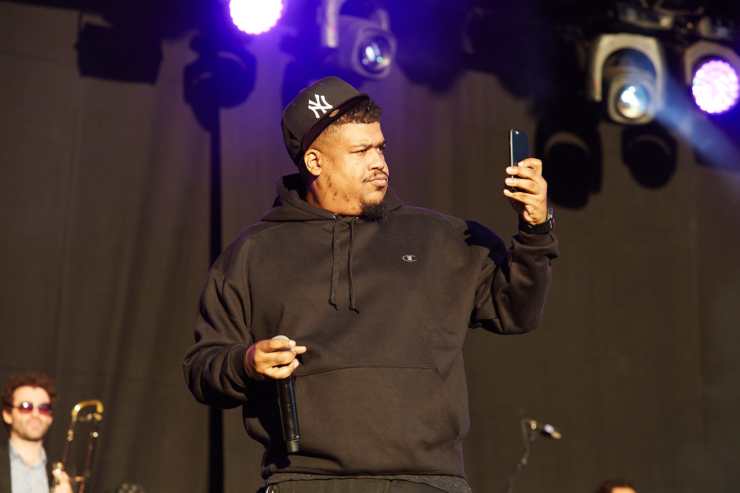 De La Soul performing on the second day of Boardmasters music festival, Watergate Bay, Cornwall 2015