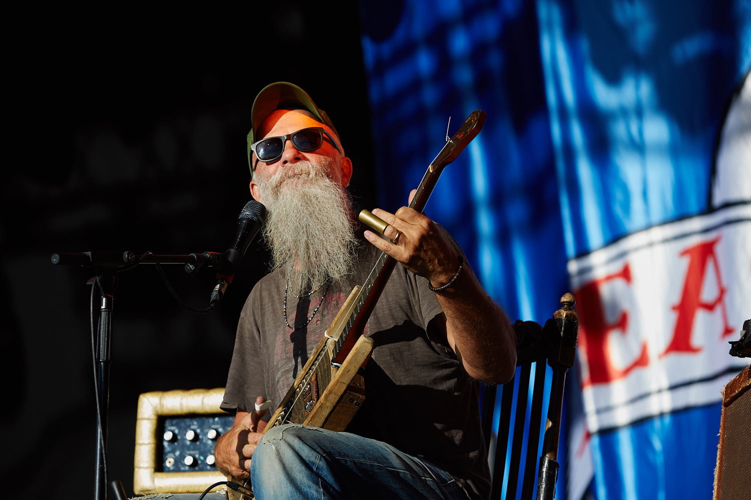 Seasick Steve performing on the second day of Boardmasters music festival, Watergate Bay, Cornwall 2015