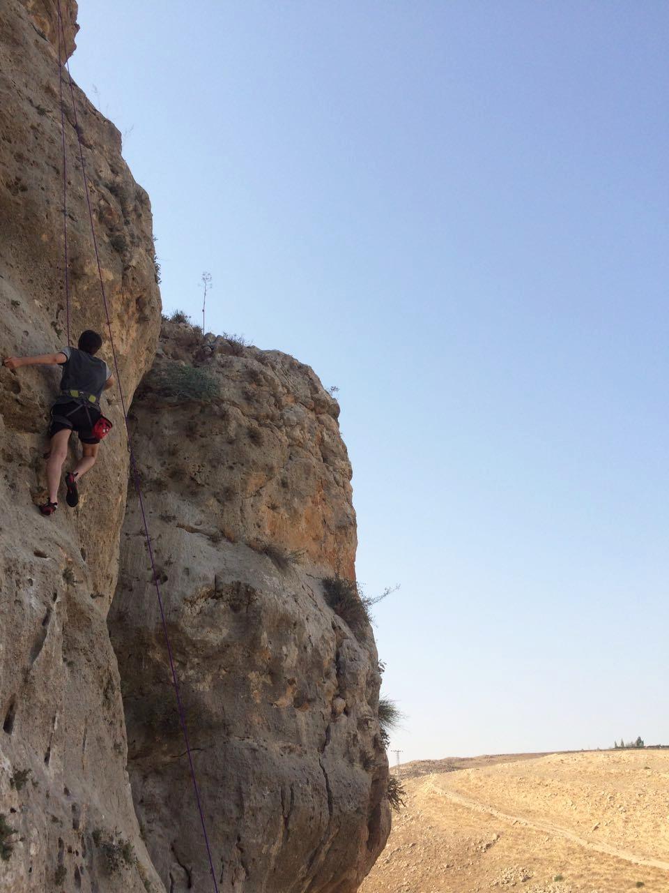 Me, climbing at Fuheis last week