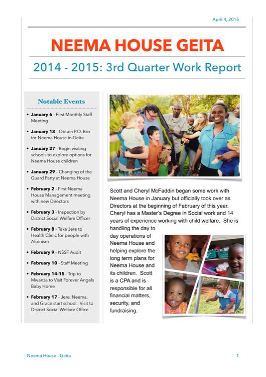 2015 Q1 Update Report