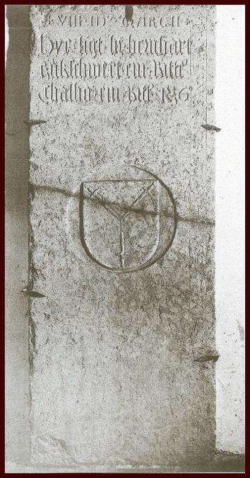 Grabplatte im Kreuzgang des Zisterzienserklosters Raitenhaslach (Foto: zvg)