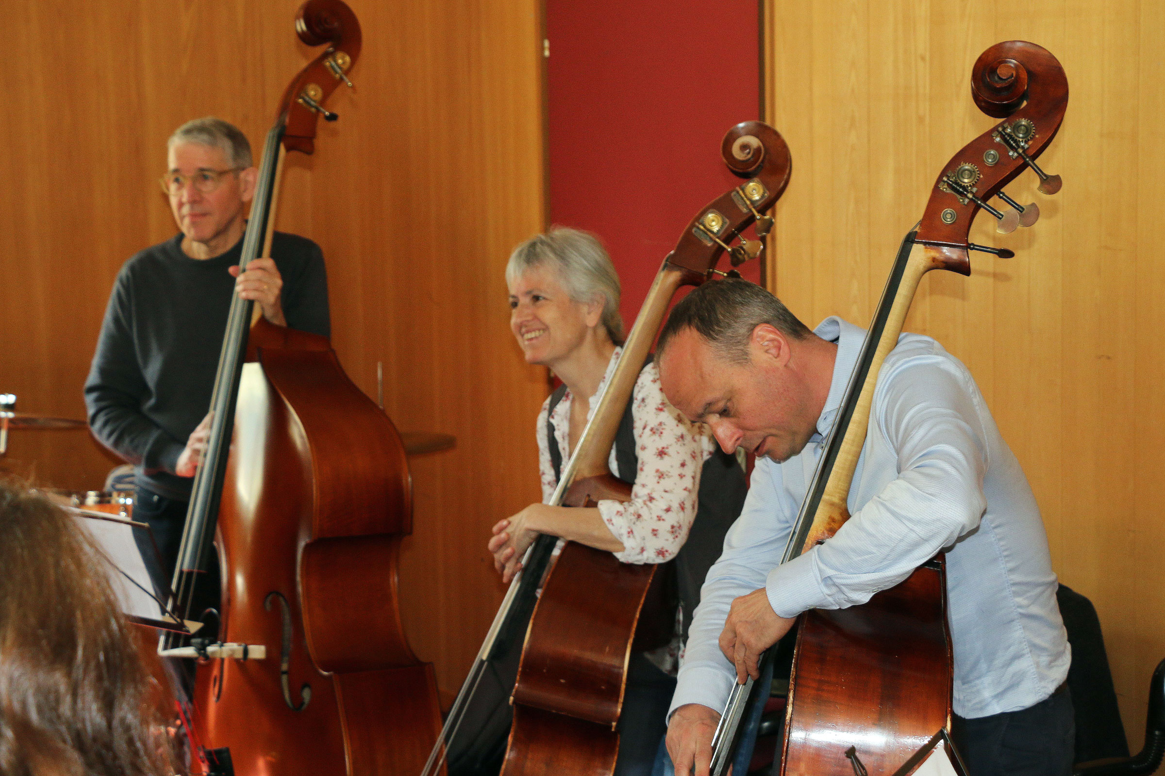 Kontrabass-Klinik am Jazzworkshop Interlaken 2019 (Foto: zvg.)
