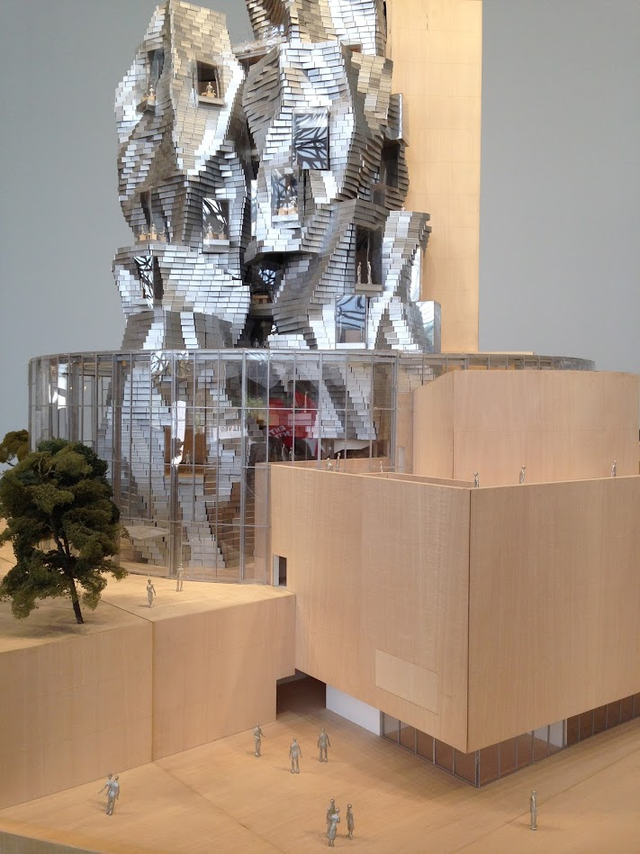 Scale model of Gehry's LUMA Tower, Arles PHOTO ©2019 Gaby Martin/La Flânerie.