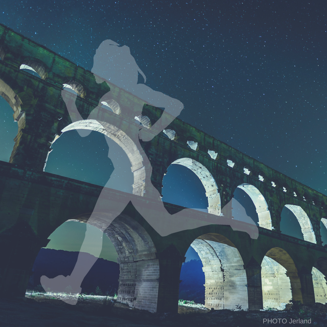 A unique nocturnal 10KM run over the majestic UNESCO Pont du Gard - Further info...