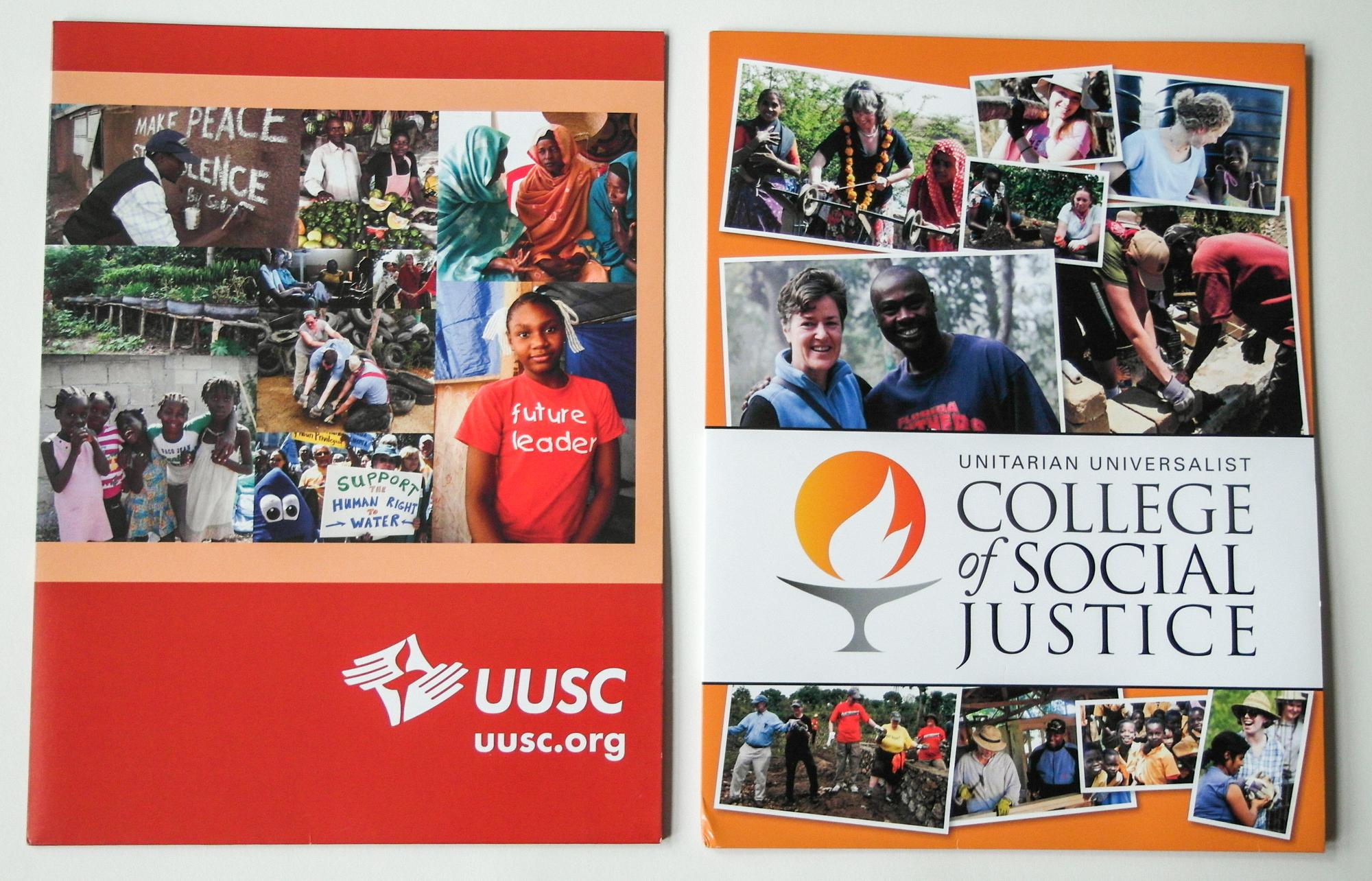 UUSC and UUCSJ pocket folders 2013-2015