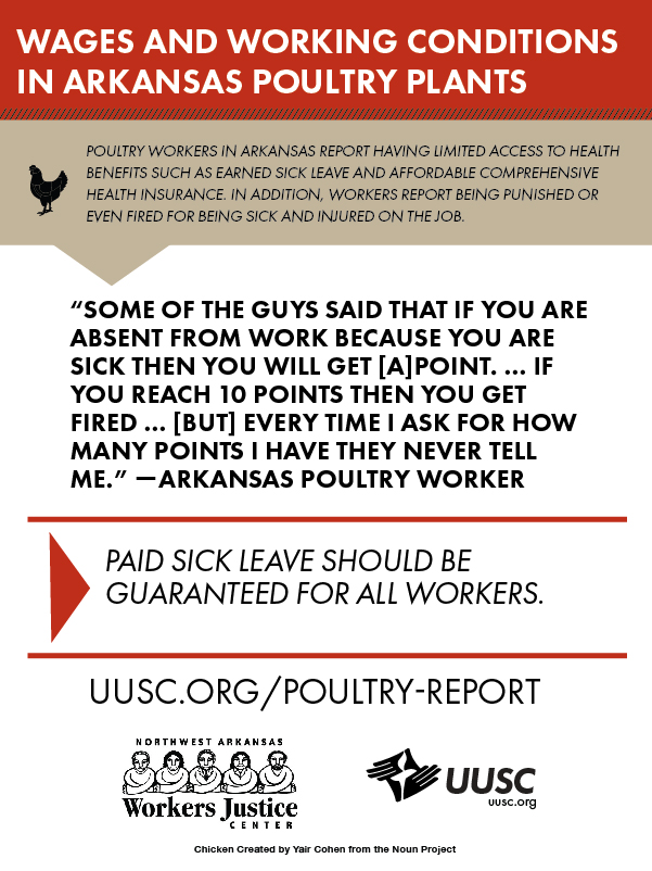 UUSC Poultry worker advocacy campaign, 2015