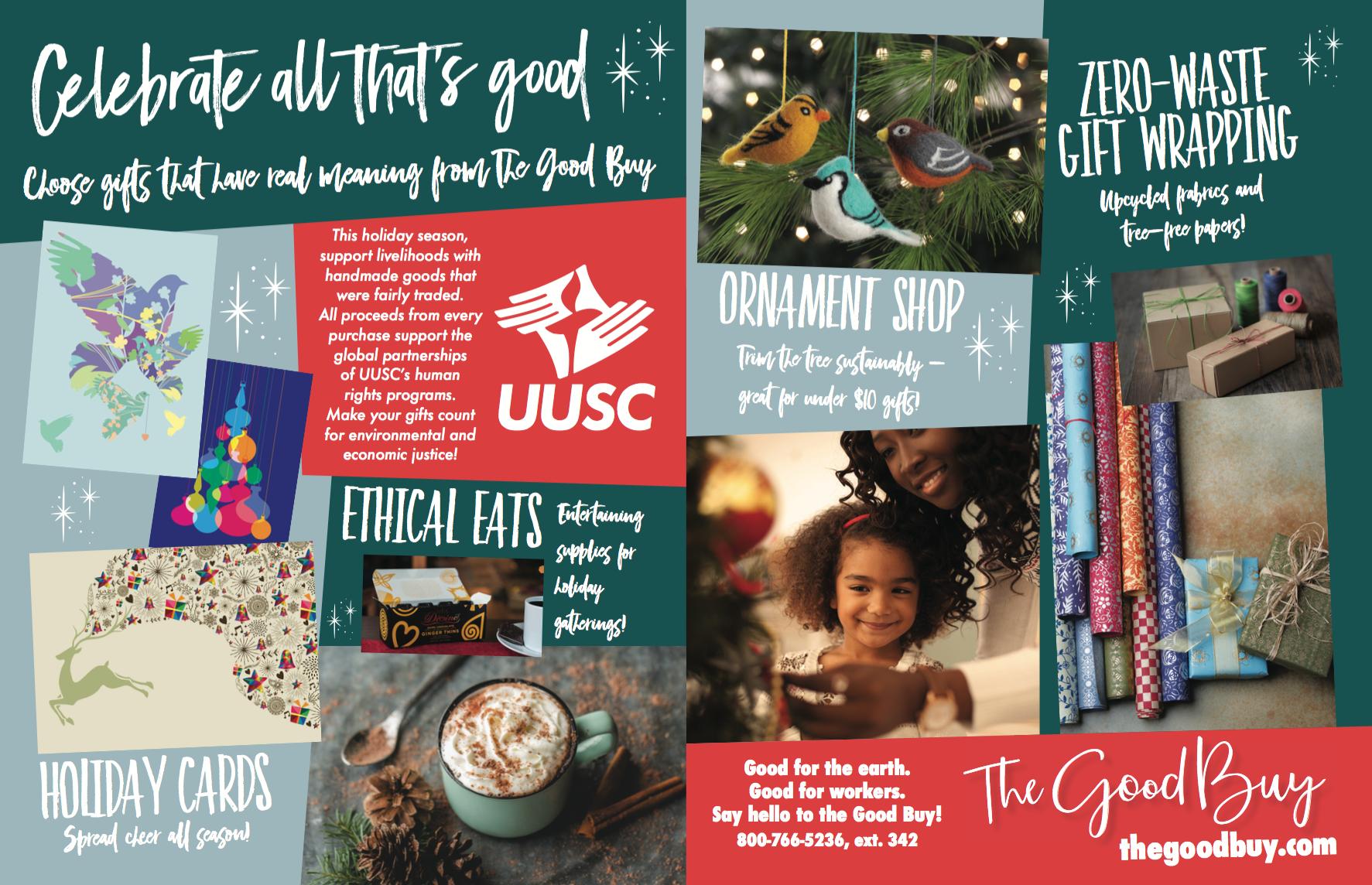 UUSC Holiday advertisement, UU World Magazine, 2016
