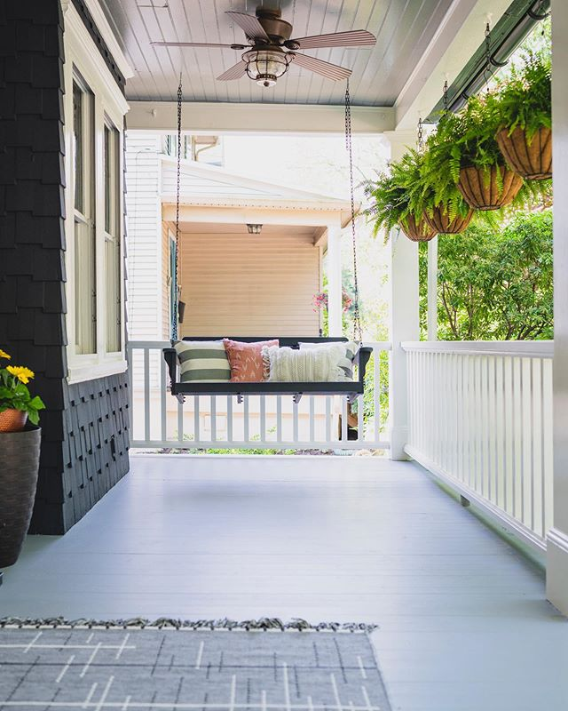 Complete radio silence over here the last month. Let's catch up quickly shall we? 1- We painted a house. Like the whole exterior and turns out it's not all that hard, but wow takes a bit of time 😂. Lots of content coming out of that project starting tomorrow. This is a peek 👀 of the porch. 2- I chopped 8 inches off my hair ✂️ and was super nervous about it, but getting ready is 💯 easier. 3- our team has been considering creating some courses and I wonder if you guys would be interested in something about making a major career change? Aka I went from a high school teacher 👩‍🎓to a career in tv 📺 and learned a whole lot in the process. Lmk if you'd be interested! 4- We've had some awesomely talented photographers using @thestudio_ec2 this month so go check out that feed to take a peek 5- I want to buy a place in the city, renovate it, and share it as an Airbnb.  Lemme know if you see any gems I should look at! That's about all you missed this month. Can't wait to share this house transformation with you tomorrow! What have you guys been up to this month?? Do tell! . . .photo by @maxgrudz - he's 👍🏻💯👌🏻 . . . . #eastcoastcreative #porchswing #frontporch #historichomes #haddonfield #blackhouse #entrepreneurlife #thestudioec2 #philadelphia