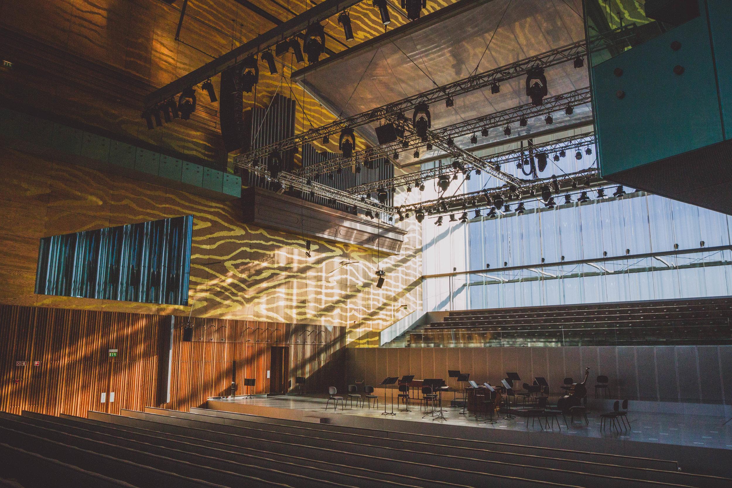 Concert Hall Interior. Photo by Anna Harding.
