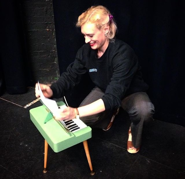 Louisa leading a vocal workshop earlier this year as part of WJF with her good pal Henrietta the Hohner Organetta.