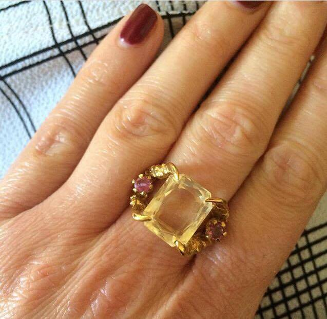Hannah's Antique Citrine and Ruby ring - truly the love of her life.   Photo Credit: Hannah Castleman