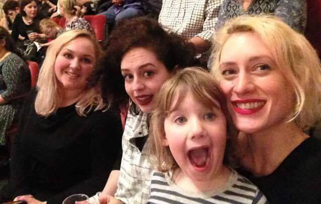 Four very happy ladies at The Nutcracker!   Photo Credit: Louisa Revolta
