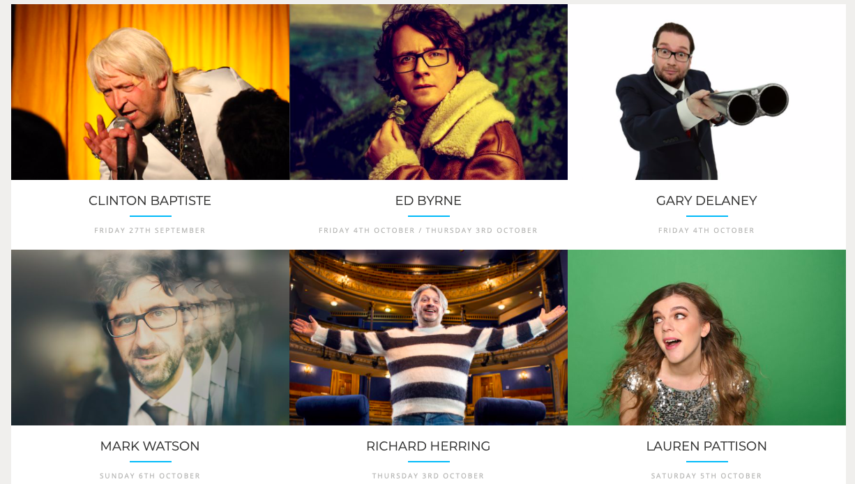 Winchester Comedy Festival's line up for 2019