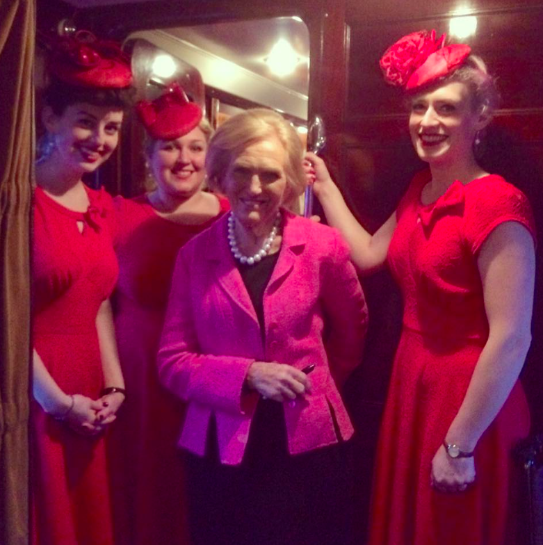 With our good friend Mary on board the Belmond British Pullman