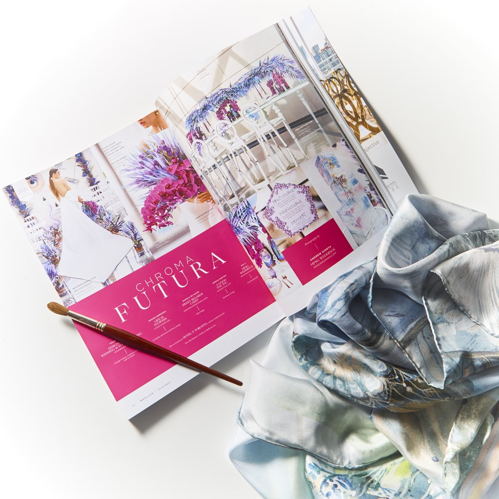 Chroma Moderna Styled shoot organized by Designed Dream, featured in    WedLuxe   , photo: Michael Haley     WedLuxe   , photography:    MPSG Weddings