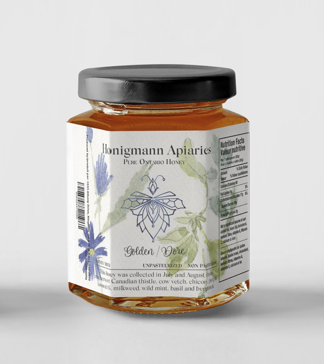 LABEL DESIGN -    Honigmann Appiaries    Logo + Label design for delicious honey produced in Kingston, Ontario.