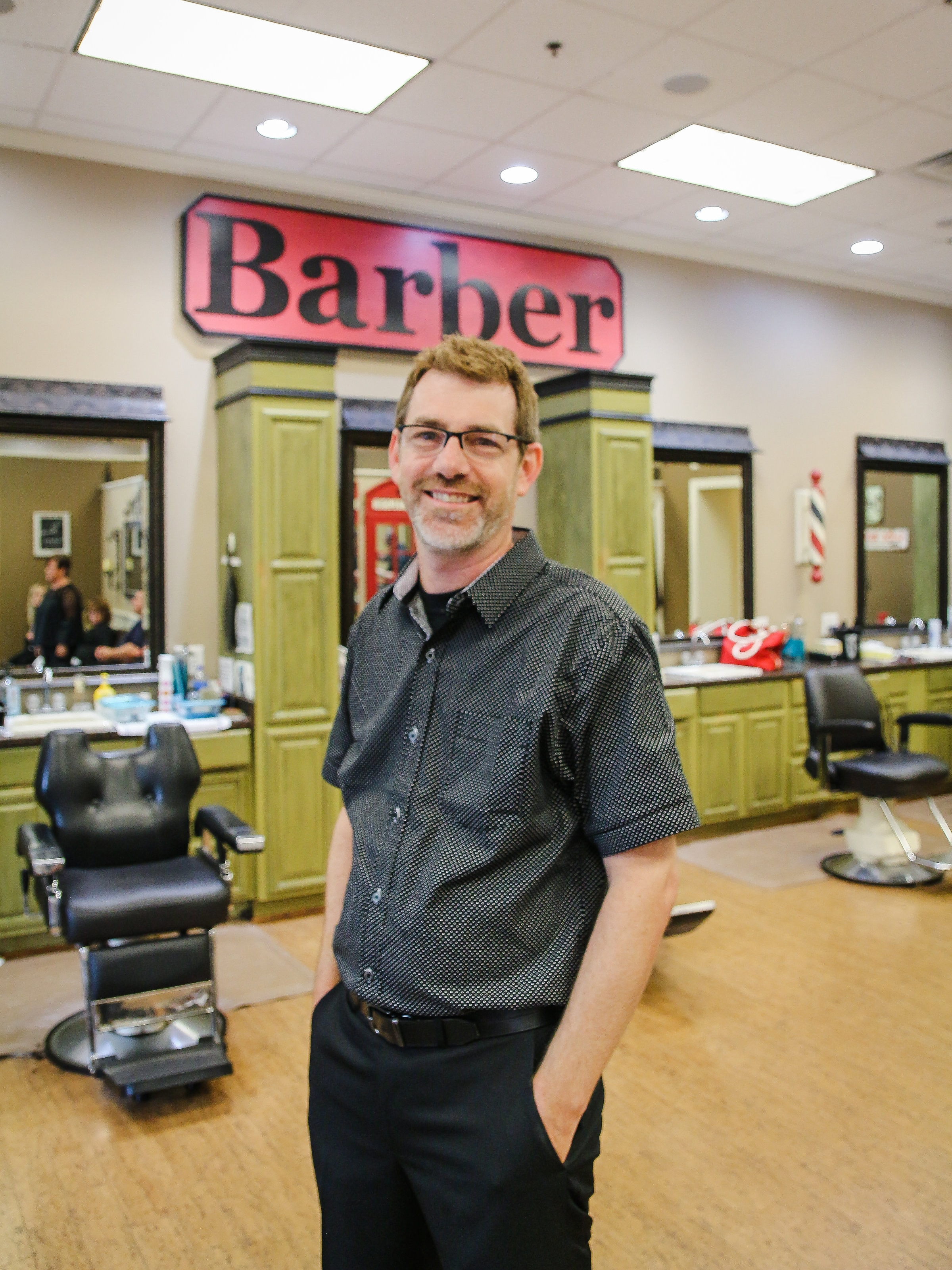 William - Barber, Stylist, Co-Owner  Location : Alps Village Shopping Center  Work Schedule : Mon, Tues, Wed, Fri, Sat