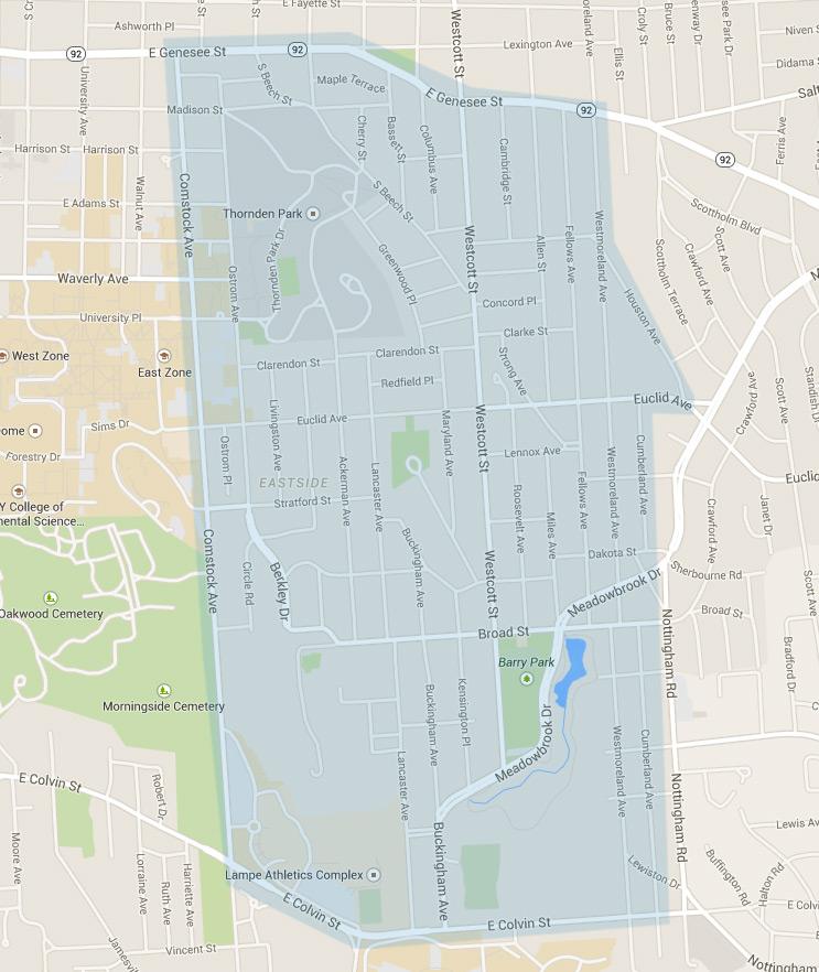 University Neighborhood Map (click to enlarge)