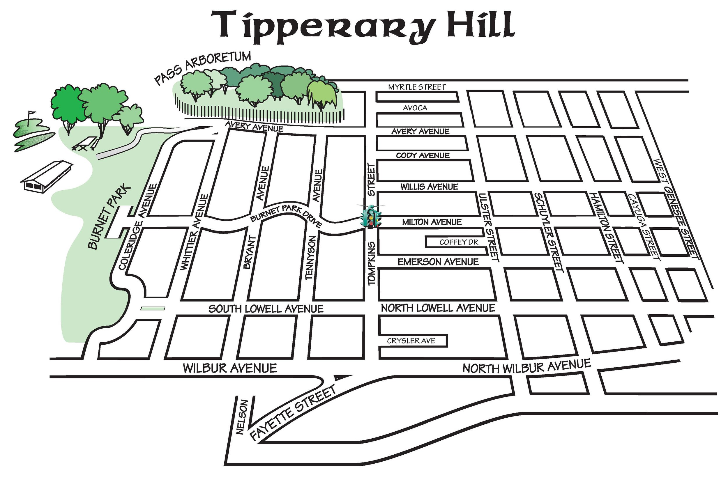 Tipperary Hill Neighborhood Map (click to enlarge)