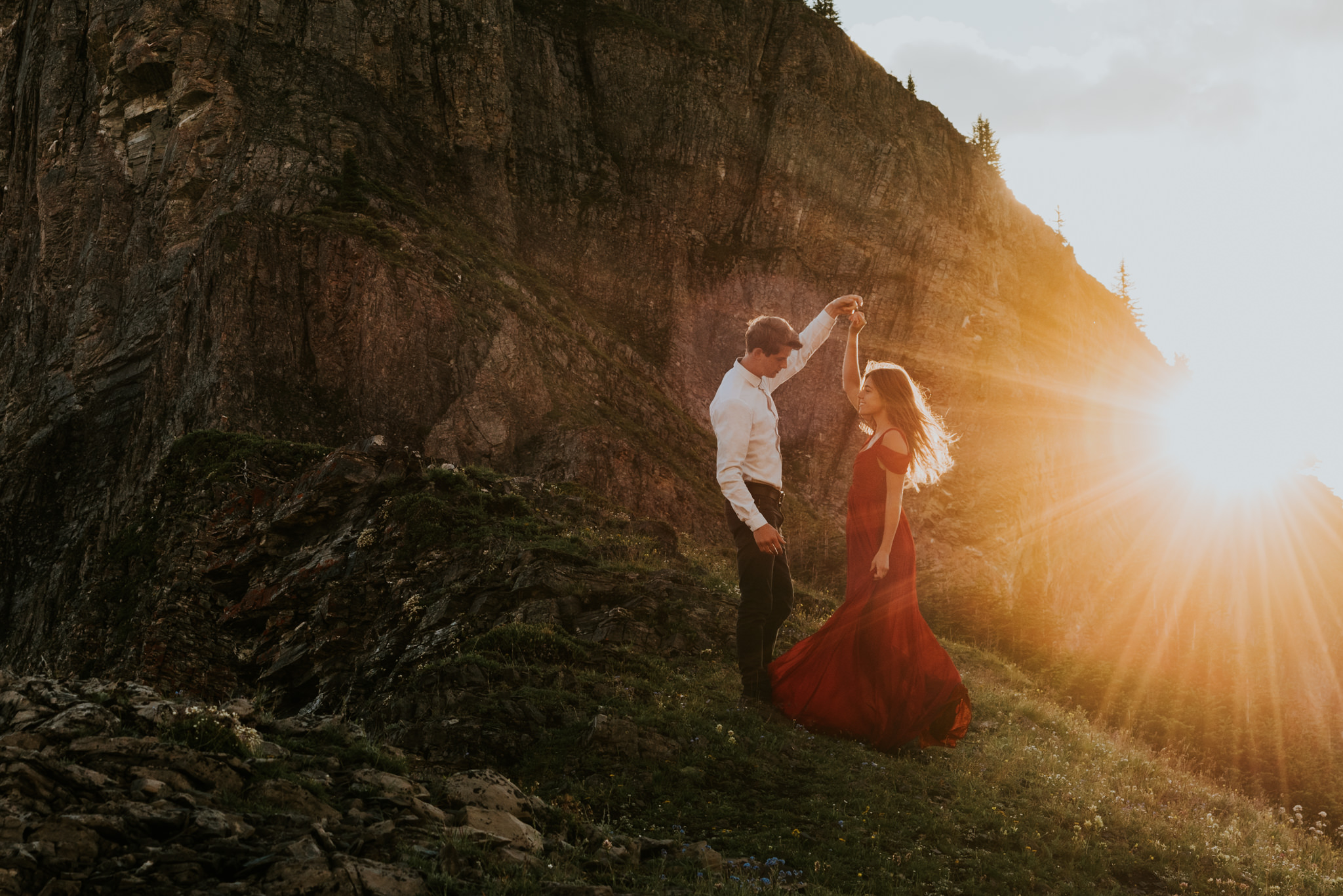 Dancing on top of a mountain