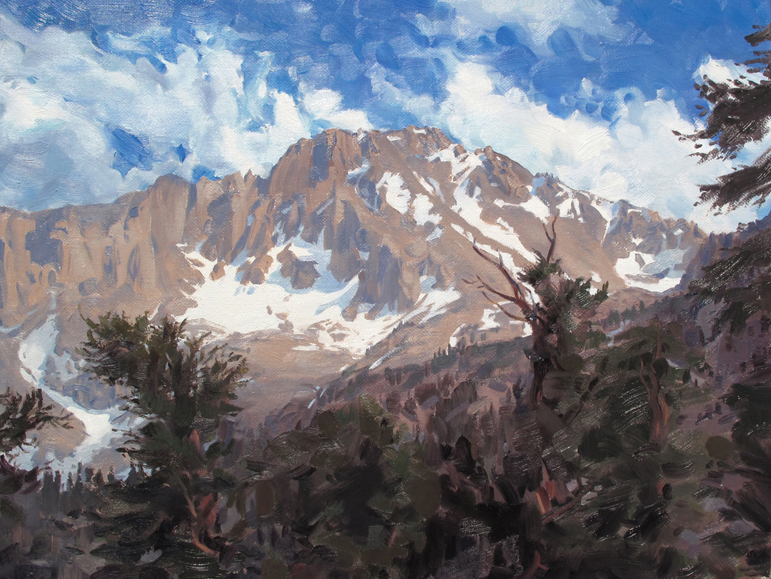 UNIVERSITY PEAK, SIERRAS, OILS © Maryann Thomas