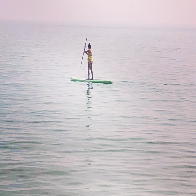 In search for the nearest lighthouse! #lakemichigan #paddleboarding #lighthouse #pure #greatlakes